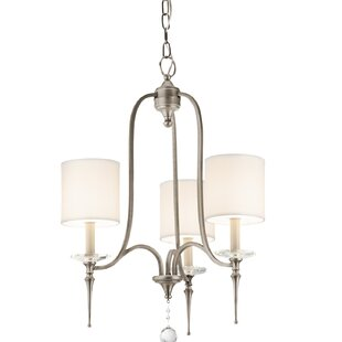 Amaia 3-Light Shaded Chandelier by House of Hampton
