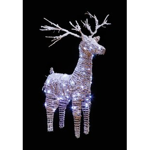 72 White LED Reindeer With Snow Luminary And Pathway Lights Image