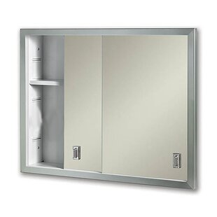 Reviews Odelia Edge Mirror Door 24 x 20 Recessed Framed Medicine Cabinet with 1 Adjustable Shelves By Winston Porter