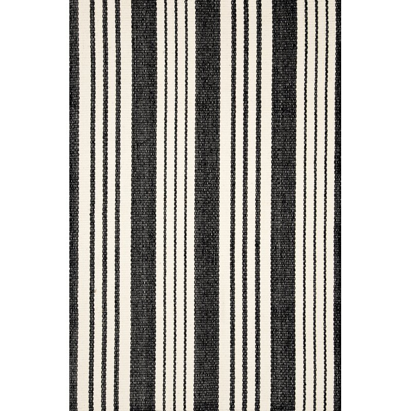 Dash And Albert Rugs Birmingham Striped Handmade Flatweave Black White Indoor Outdoor Area Rug Reviews Wayfair