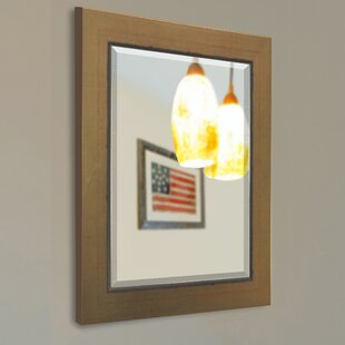 Darby Home Co Doylestown Square Gold Wall Mirror