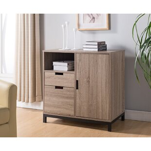 Nicolasa Wooden 2-Drawer Vertical Filing Cabinet