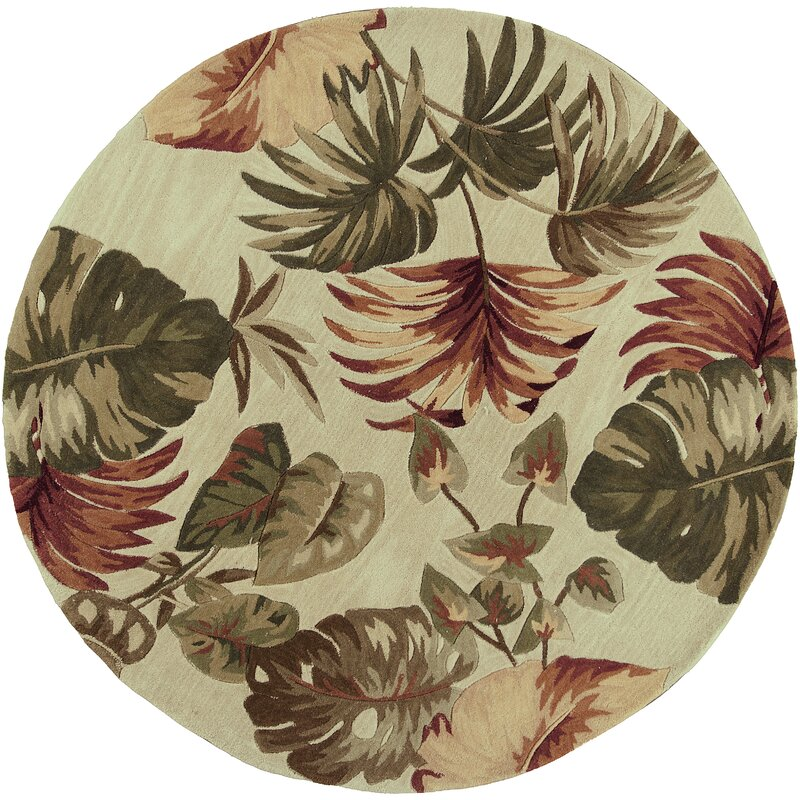 Bay Isle Home Murray Beige Palm Leaves Area Rug Amp Reviews