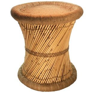 Natural Geo Moray Decorative Jute Accent Stool