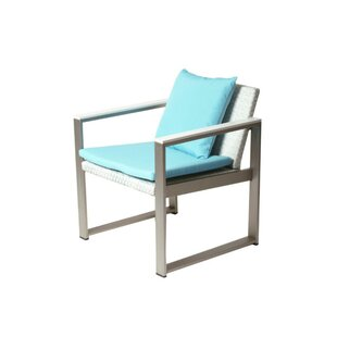 Barnes Impeccably Comfortable Upholstered Aluminum Patio Dining Chair with Cushion