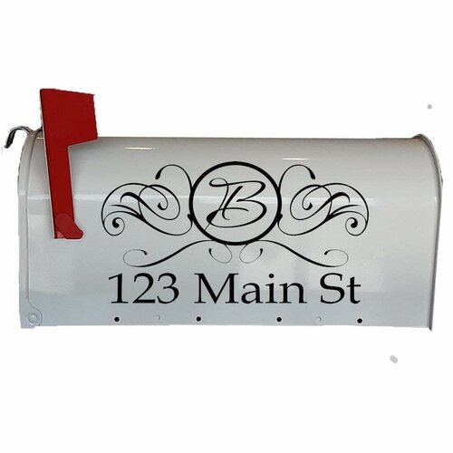 Monogram Wall Decal removable front door sticker decor mailbox sign personalized