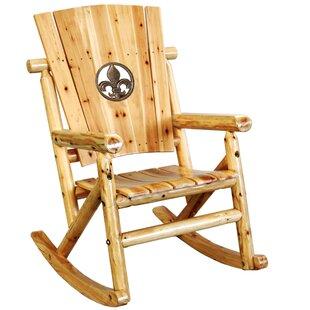 Alaniz Fleur de Lis Medallion Single Rocking Chair by Millwood Pines
