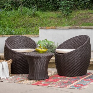 Cabott 3 Piece Bistro Set with Cushions b..