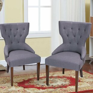 Adeco Trading Fabric Living Room Side Chair (Set of 2)