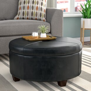 Leather Coffee Table Ottoman Wayfair Ca
