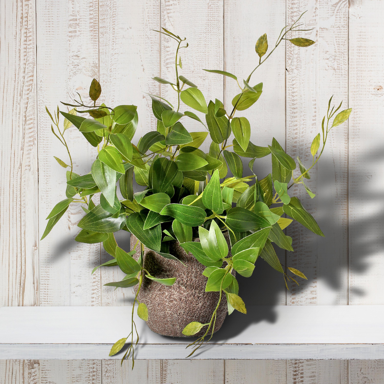 Gracie Oaks 14 Artificial Foliage Plant In Pot Wayfair