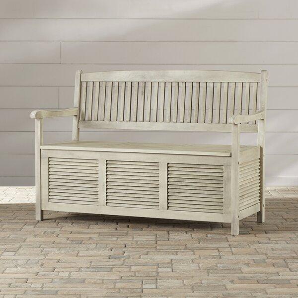 Teak Outdoor Storage Bench | Wayfair
