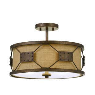 Williston Forge Eckert 3-Light Drum Chandelier