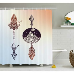 Great Price Caress American Boho Feather Shower Curtain By Ebern Designs