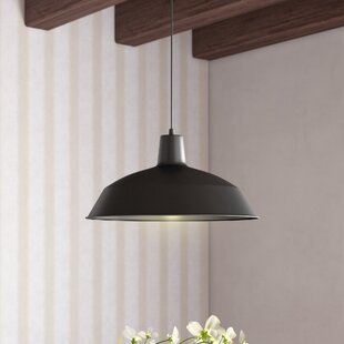 Online Reviews Cornelia Industrial Warehouse 1-Light Bowl Pendant By Laurel Foundry Modern Farmhouse