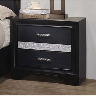 Pentico 2 Drawer Nightstand