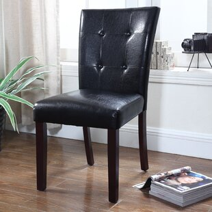 BestMasterFurniture Faux Leather Side Chair (Set of 2)