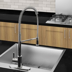 Ancona Single Handle Deck Mounted Standard Kitchen Faucet with Optional Desk Plate