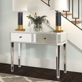 Dasheil Mirrored Console Table by Rosdorf Park