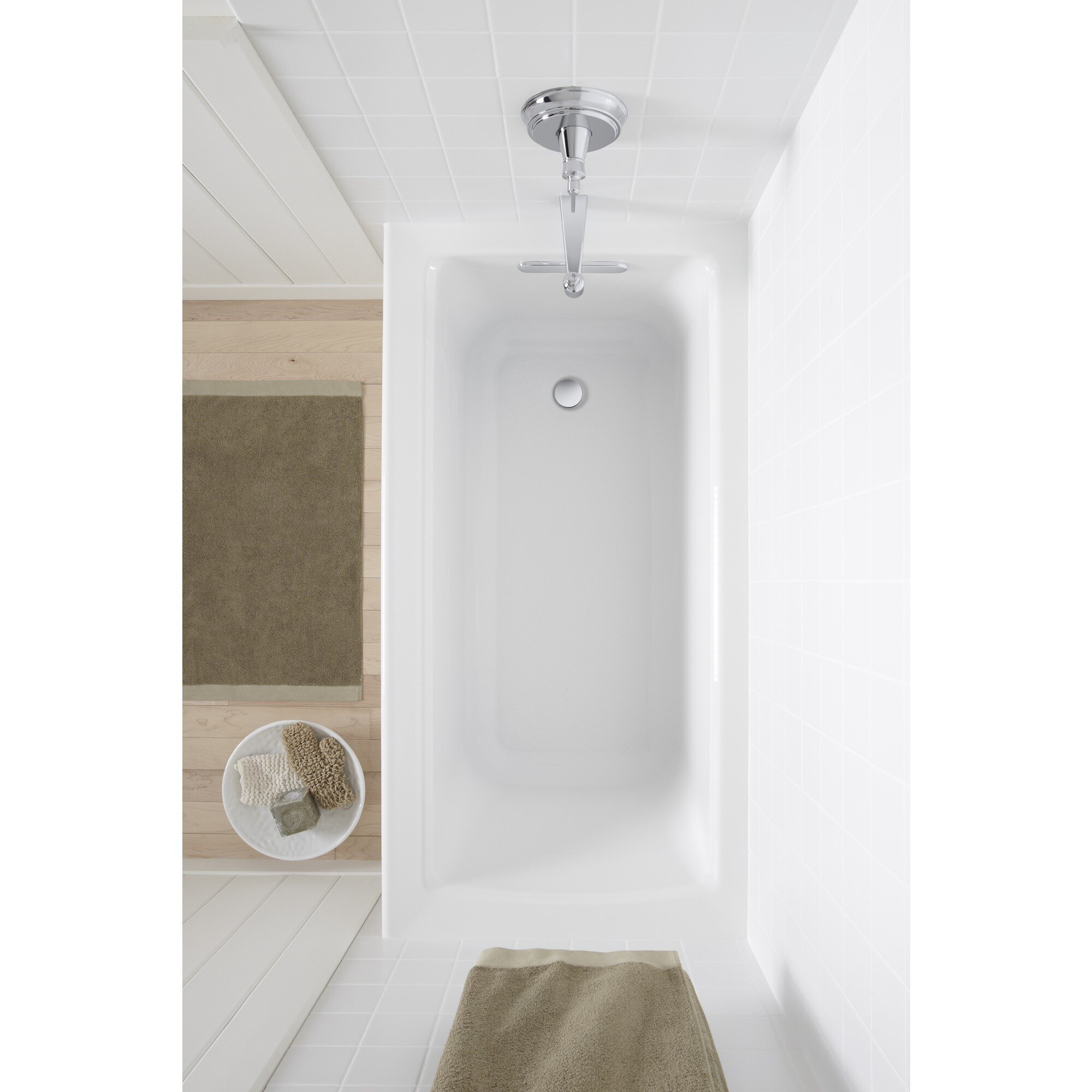 K 1946 La 0 7 96 Kohler Archer 60 X 30 Alcove Soaking Bathtub Reviews Wayfair