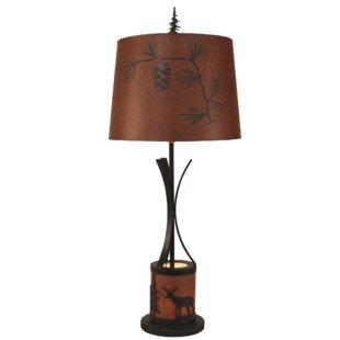 Elaina Flat Bar 34 Table Lamp