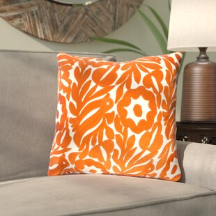Barwick Floral Cotton Throw Pillow