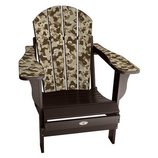 Latitude Run Kerber Camo Plastic Folding Adirondack Chair