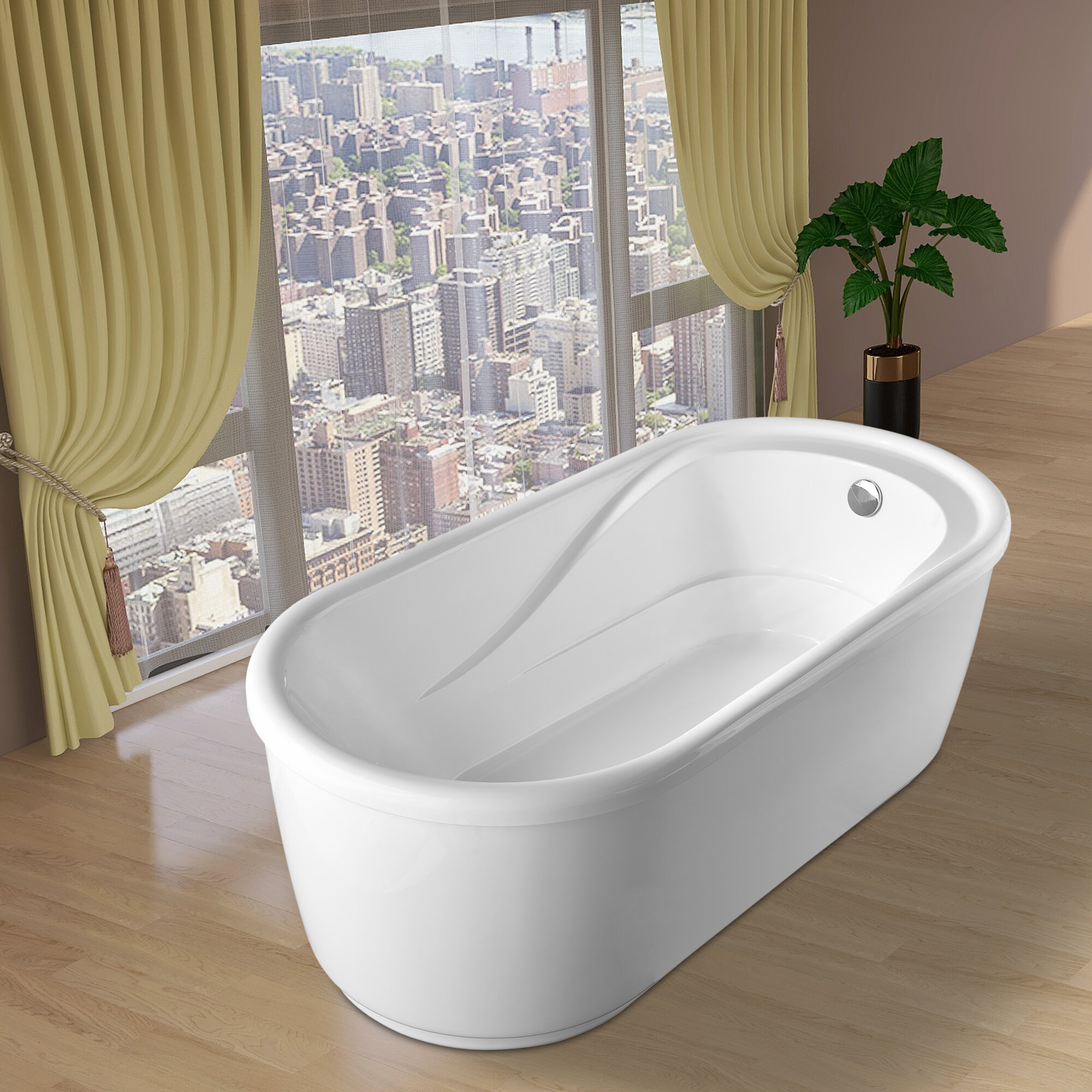 Vanity Art 67 X 32 Freestanding Soaking Bathtub Reviews Wayfair