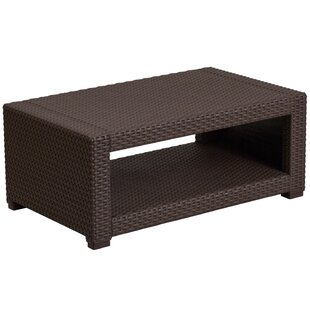 Clifford Faux Rattan Coffee Table