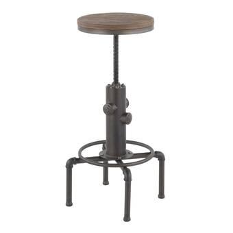 Amazing Williston Forge Gowan Adjustable Height Swivel Bar Stool Alphanode Cool Chair Designs And Ideas Alphanodeonline