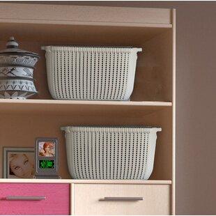 Buying Wicker Plastic Basket (Set of 2) By Highland Dunes