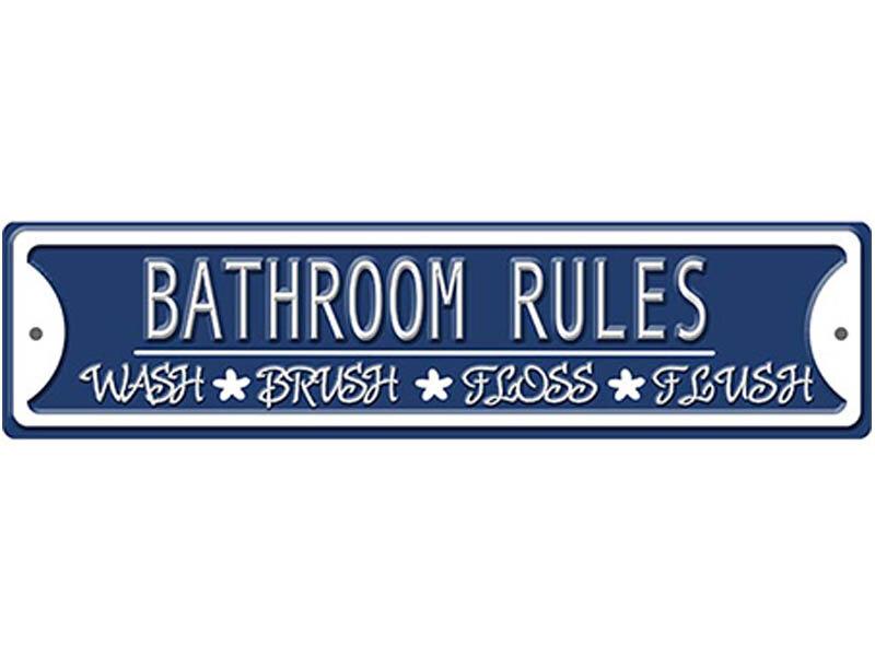 Winston Porter Bathroom Rules Print On Metal Reviews Wayfair