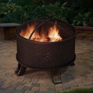 Sunjoy Cast Iron/Steel Wood Burning Fire ..