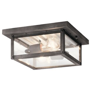 Great choice Heiser 2-Light Outdoor Flush Mount By Bloomsbury Market