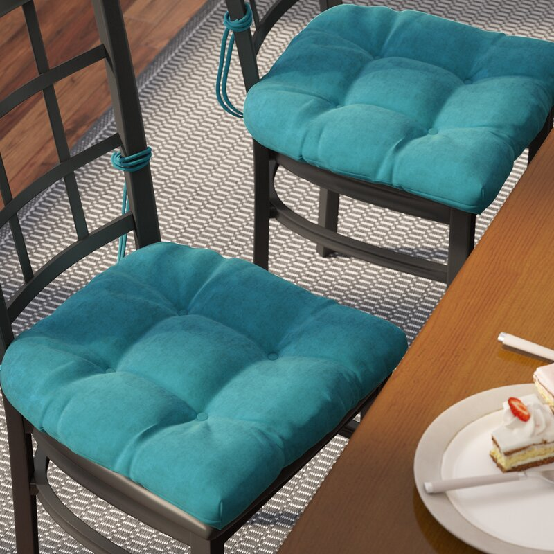 Microsuede Fabric Indoor Dining Chair Cushion