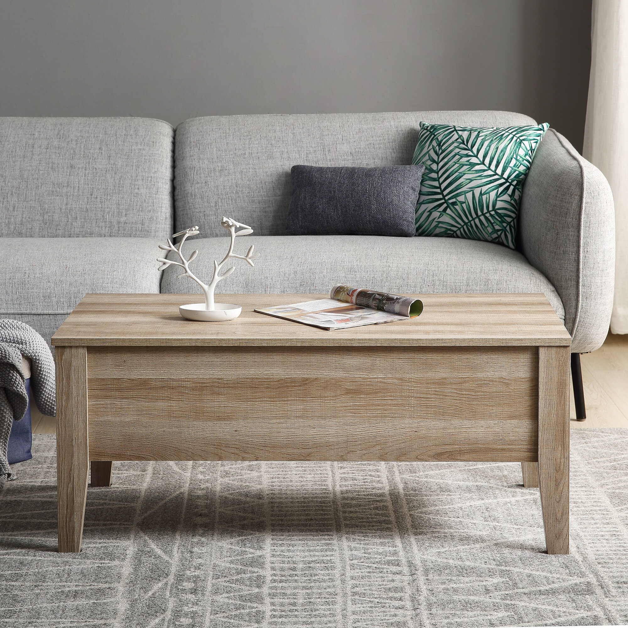 Red Barrel Studio Aaliyahrose Lift Top Extendable Coffee Table With Storage Wayfair