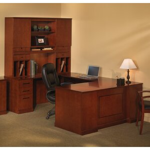 sorrento series ushape executive desk with hutch