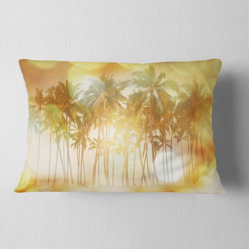 East Urban Home Landscape Palms Serene Tropical Beach Lumbar Pillow Wayfair