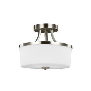 Darby Home Co Burnley 2-Light LED Drum Pendant