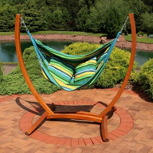Freeport Park Barrett Hanging Hammock Chair Porch Swing with Stand