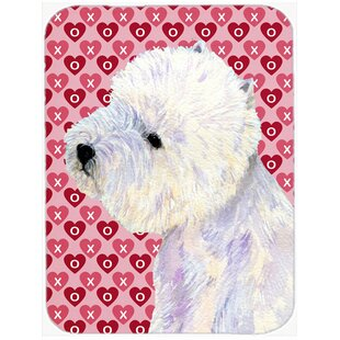 Valentine Hearts Westie Hearts Love Valentine's Day Glass Cutting Board By Caroline's Treasures