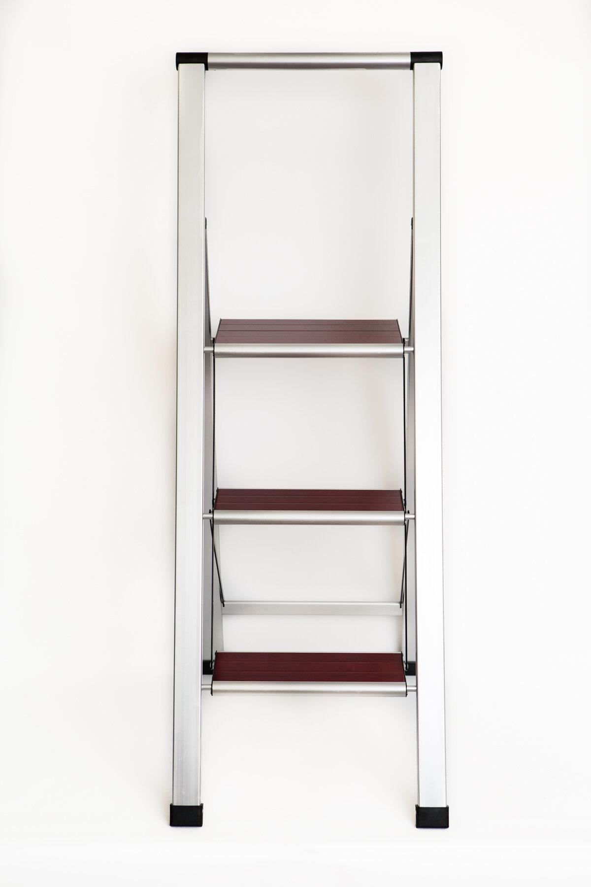 Super Emanuel Folding 3 Step Wood Step Stool With 250 Lb Load Capacity Evergreenethics Interior Chair Design Evergreenethicsorg