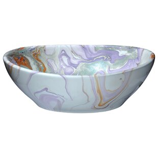 ANZZI Sona Vitreous China Oval Vessel Bathroom Sink
