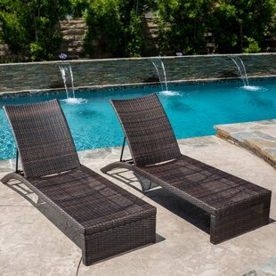 Brayden Studio Acrion Reclining Chaise Lounge (Set of 2)
