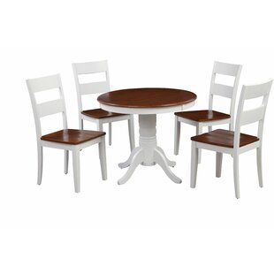 McDiarmid Fulantville 5 Piece Breakfast Nook Solid Wood Dining Set by August Grove
