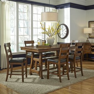 Billings Counter Height Extendable Dining Table by Loon Peak