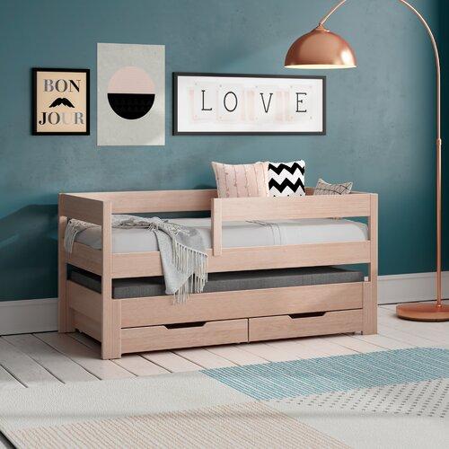 Halbhochbett Beasley mit Schubladen und Matratzen | Kinderzimmer > Kinderbetten > Hochbetten | Holz | Isabelle & Max