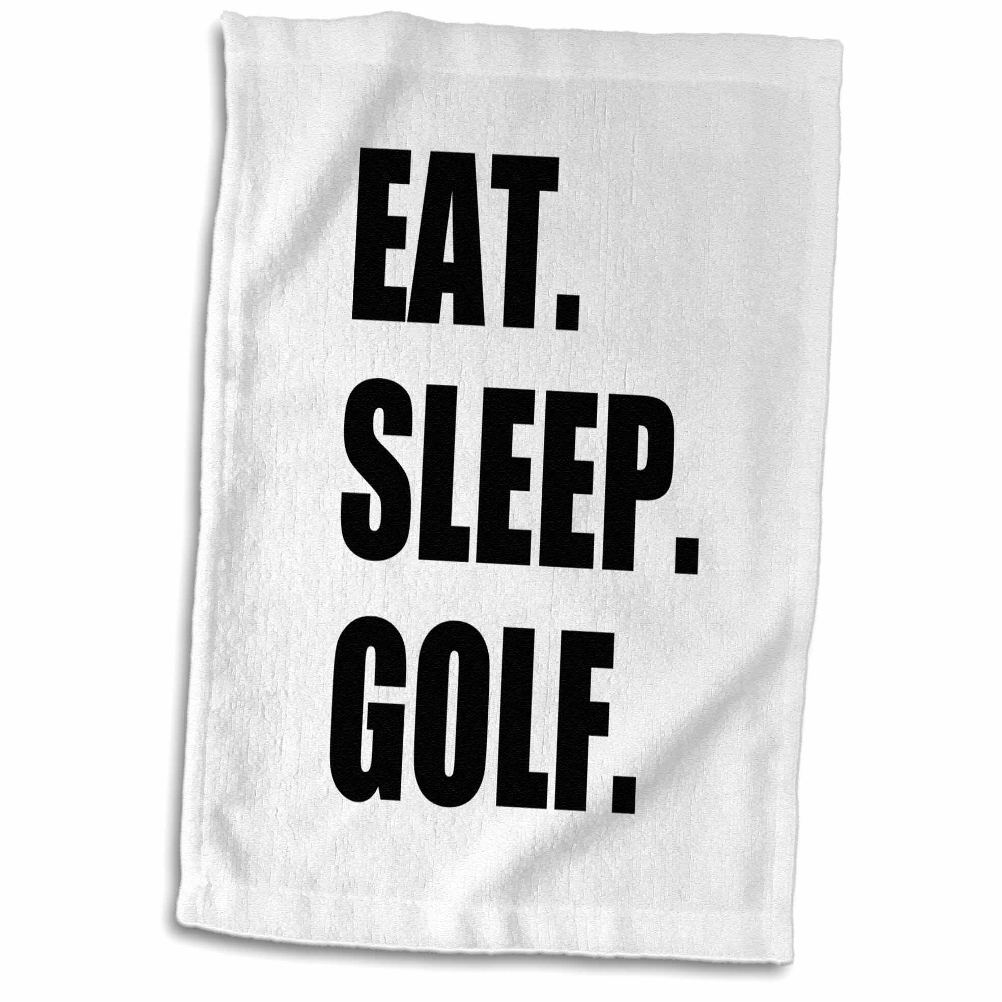 Symple Stuff Crown Heights Eat Sleep Golf Hand Towel Wayfair