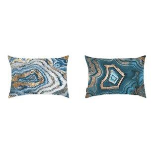 Liesel 2 Piece Geode Lumbar Pillow Set (Set of 2)