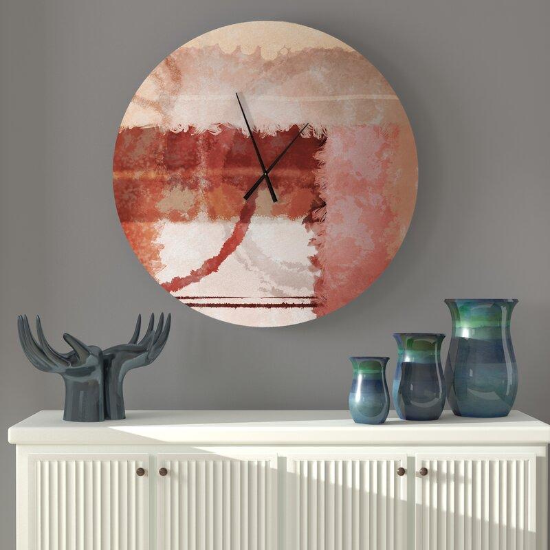 Ebern Designs Sacrosanct Onward Abstract Wall Clock Wayfair